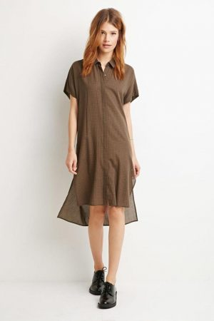 olive-slash-black-forever21-gingham-shirt-dress-screen